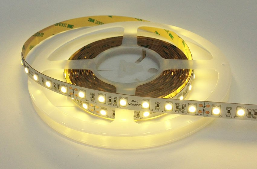 Warm White LED Tape Lit Up