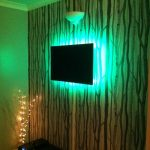 TV with LED backlighting - green mix