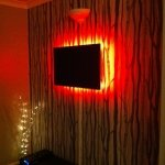 TV with LED backlighting - fire-red mix