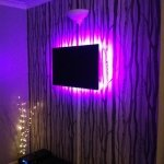 TV with LED backlighting - deep purple mix