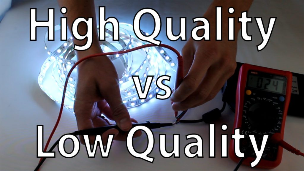 High-quality vs low-quality LED strip lighting