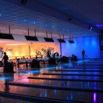 Bowling alley with LED downlighters