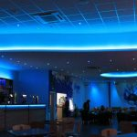 Bowling alley bar - multizone LED system (ceiling set to royal blue)
