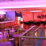 RGB LEDs n bowling alley bar's seating area