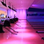 RGB LED downlights in bowling alley