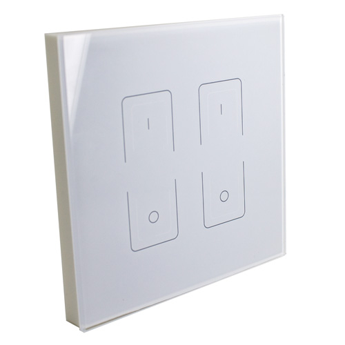 2 channel wireless wall dimmer for instyle led tape. Black Bedroom Furniture Sets. Home Design Ideas