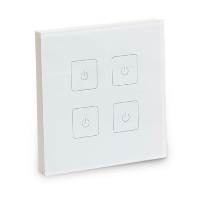 Four-zone wall dimmer for white & single-colour LEDs