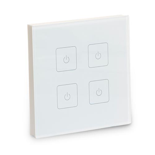 Led Strip Light Wall Dimmer: 4-Zone Wireless Wall Dimmer For InStyle LED Strip Lighting