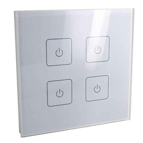 Wall Lamp With Dimmer : 4 Channel Wireless Wall dimmer for InStyle LED tape