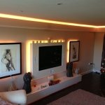 Warm-white LED coving lights and backlighting