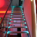 RGB LEDs lighting stairs