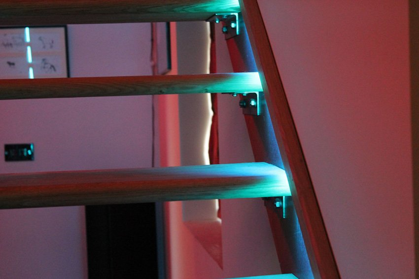 Lighting Basement Washroom Stairs: Renovated Farmhouse Project