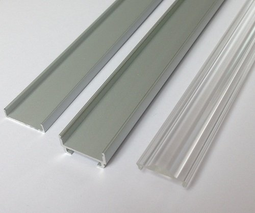 three LED tape extrusions