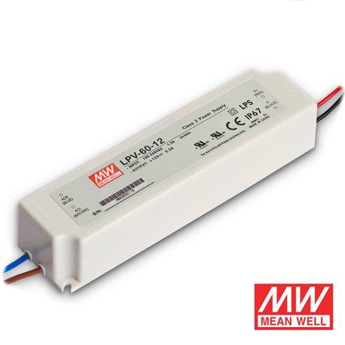 60 Watt Mean Well Transformer for LED Strip Lights