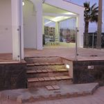 Villa patio with LED strip-lighting