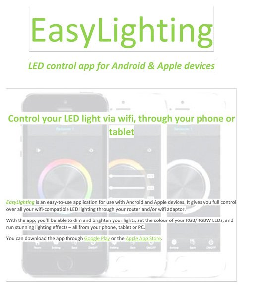 EasyLighting - instructions for InStyle products