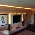 warm white LEDs highlight this TV