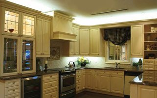 Dimmable LED lights in the kitchen