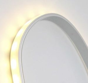 LED tape extrusion bent in an arch