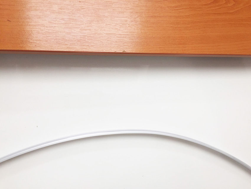 Flexible LED profile can bend much further than traditional extrusions