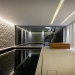Warm-white LEDs installed over swimming-pool