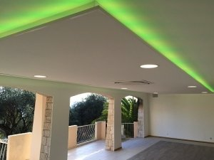 LED tape in villa