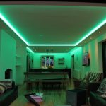 20W kitchen RGBW LED strips set to mix green light