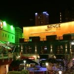 Gold LED nightclub frontage