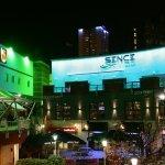 Blue LED nightclub frontage