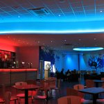 Bowling alley bar - multizone LED system (ceiling set to blue)