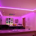violet light mixed by RGBW LEDs