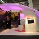 LEDs used in exhibition-stand display - wide shot