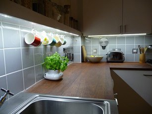 Avoid flicker on LED under-cabinet lights in the kitchen