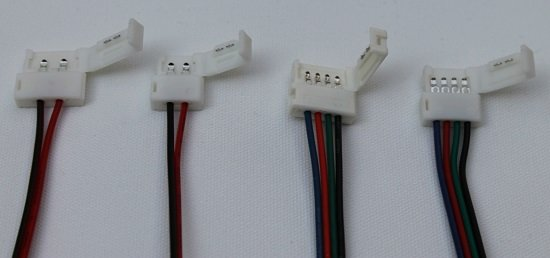 Flexible connectors for LED strip lighting & How to use solderless LED tape connectors