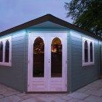 Summerhouse LEDs set to pale blue