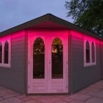 Summerhouse LEDs set to red