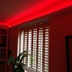 RGB LED coving strip lights - red mix