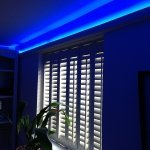 RGB LED coving strip lights - blue mix