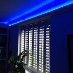 RGB LED coving strip lights - blue mix