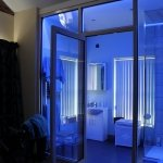 Ensuite bathroom with LED lighting