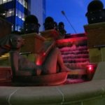 RGB LED fountain uplights