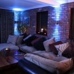 Up-down wall lights, RGB LEDs producing blue light