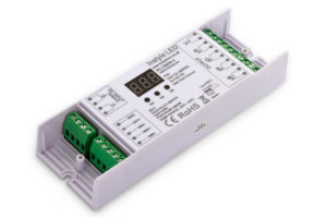 High power 4-channel DMX 512 receiver - open for wiring