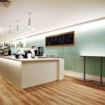 Marlow International cafeteria LED lighting