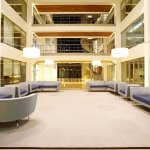 Marlow International lobby seating (warm-white LED lighting)