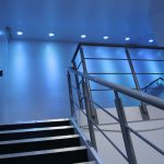Luxeon LED downlights illuminate this staircase landing