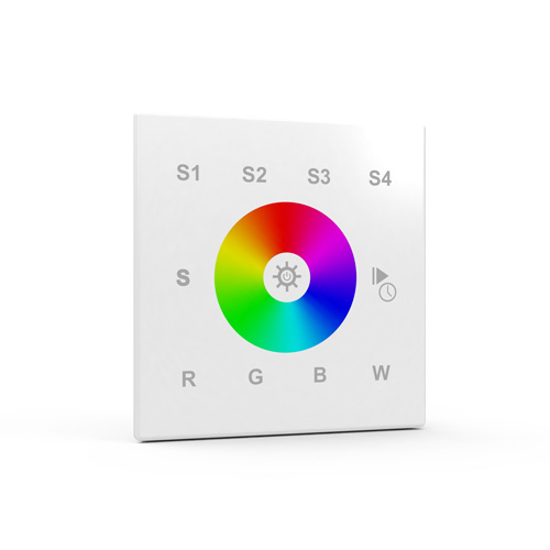 Single-zone wireless RGB/RGBW LED wall controller