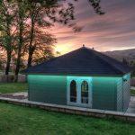 RGB LED tape on summerhouse