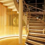 Marlow International stairway lit by 20-watt LEDs