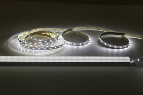 4.8w LED strip lights in a tube surface aluminium extrusion profile